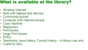 what is available at the library